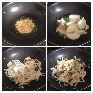 saute onion for poori masala