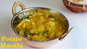 potato masala, poori masala, masala for poori