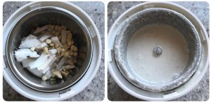 grind coconut for soya chunk kurma