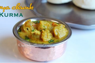 soya chunks kurma recipe, meal maker kurma, kurma