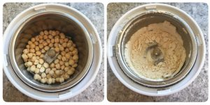 grind fried gram dal into fine powder for aval murukku