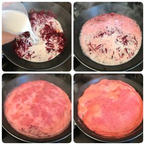 add milk and cook beetroot