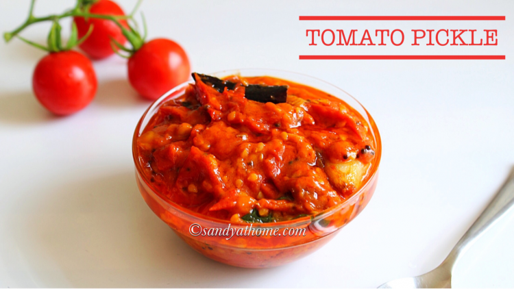 instant tomato pickle recipe, tomato pickle, thakkali urugai
