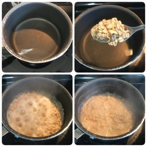 cook oats in watet for oats porridge