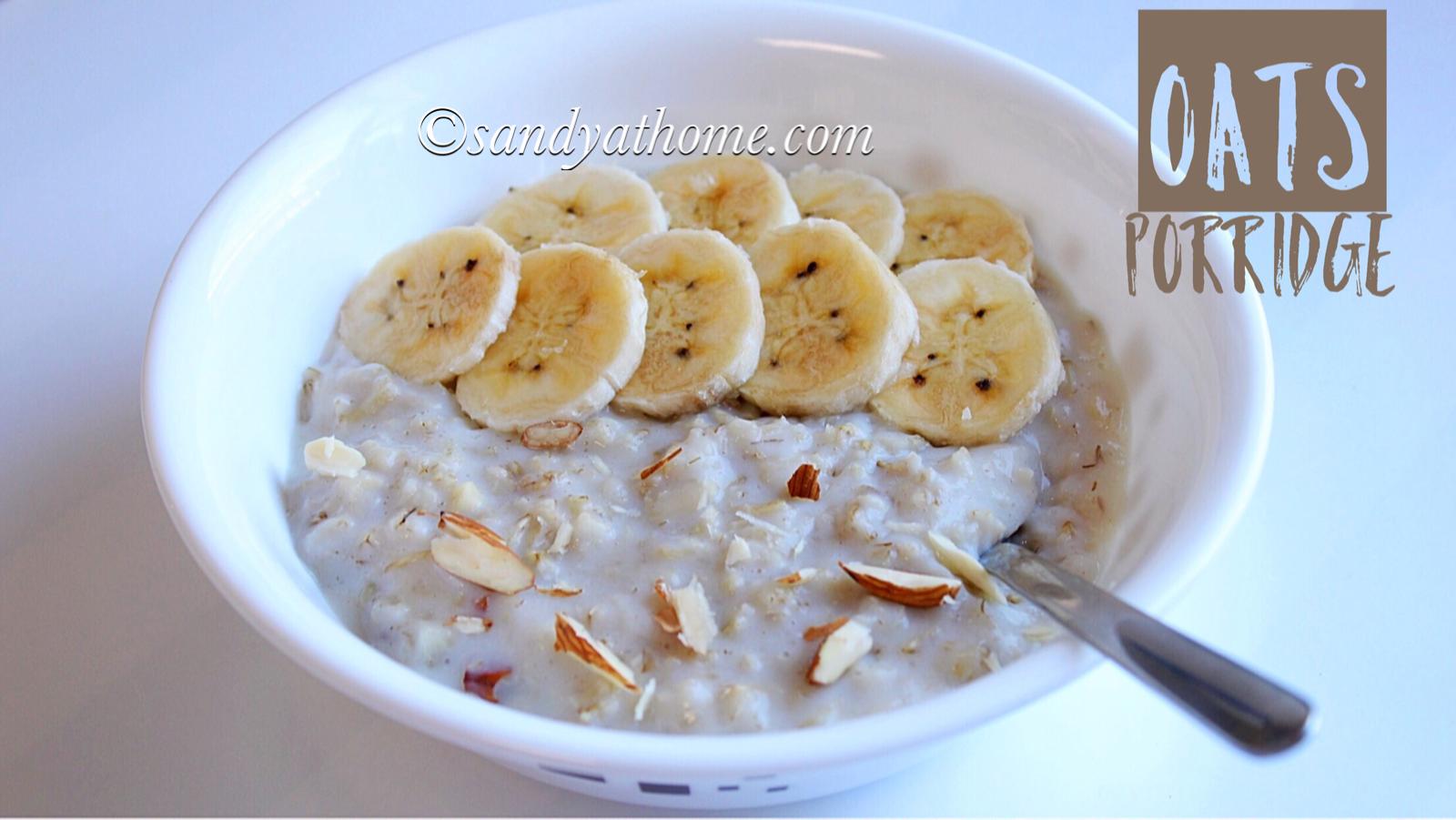 oats porridge recipe, porridge