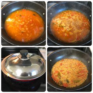 cook quinoa in medium flame and serve