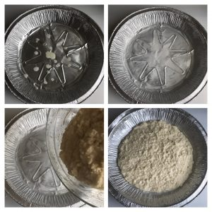 Pour the mixture in greased baking tray