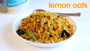 easy oats recipe, lemon oats