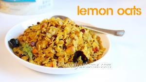 lemon oats recipe, indian oats