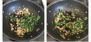 saute methi/ fenugreek leaves