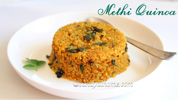 methi quinoa recipe, quinoa upma, methi quinoa