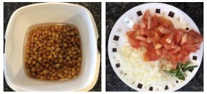 Soak balack channa and chop veggies