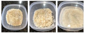 wash and soak rice, poha and urad dal in water