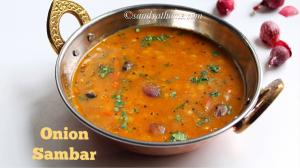 chinna vengaya sambar, onion sambar