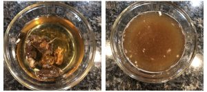 Saok tamarind in water and extract juice form it