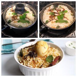 Egg biryani is ready