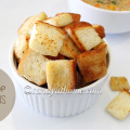 homemade croutons, croutons