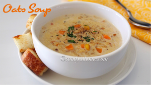 oats vegetable soup recipe, oats soup