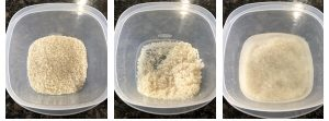 wash and soak rice in enough water