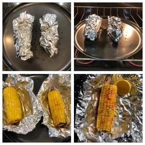 Bake the corn and relish it