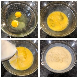whisk eggs and sugar together
