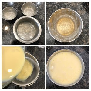 Add pudding mixture in greased bowls