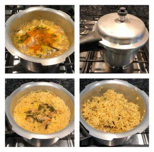 presure cook biryani