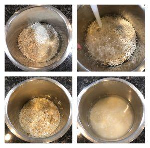Soak dal and rice