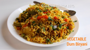 dum biryani, vegetable biryani
