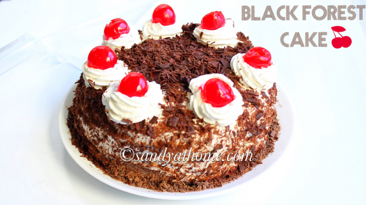 black forest cake how to make black forest cake sandhya s recipes