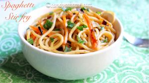 spaghetti recipe, spaghetti stir fry