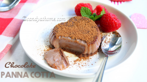 panna cotta, chocolate panna cotta