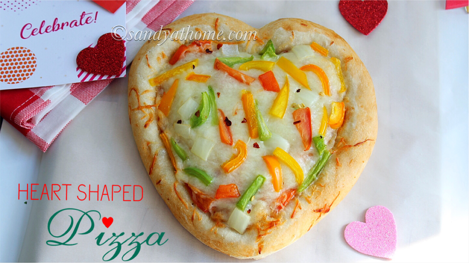 heart shaped pizza