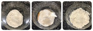 Mix all the ingredients together to form a dough