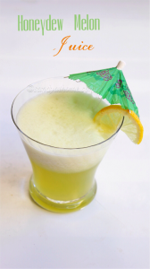 melon juice recipe, honeydew melon juice