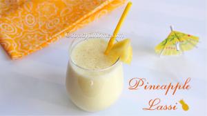 pineapple lassi recipe, lassi