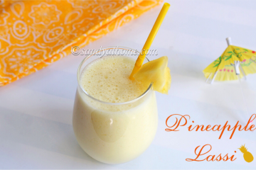 pineapple lassi recipe, lassi