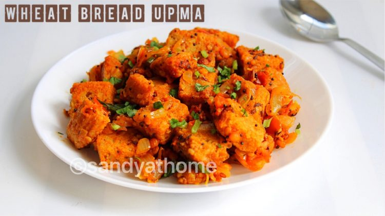 wheat bread upma, upma