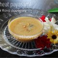 wheat kheer, kheer, payasam,