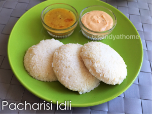 pacharisi idli recipe, raw rice idli recipe