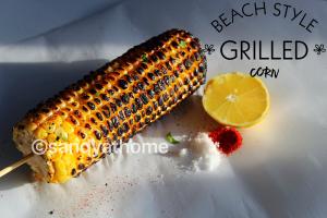 Beach style corn, corn