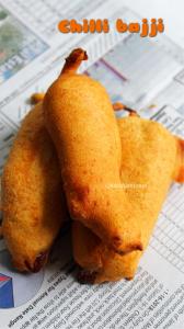 Mirchi bajji recipe, Milagai bajji