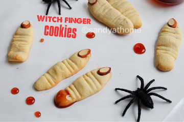 witch finger cookies, cookies