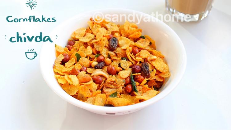 Cornflakes chivda, Cornflakes mixture recipe, mixture