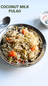 pulao with coconut milk