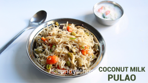 vegetable pulao with coconut milk