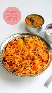 stovetop vegetable biryani