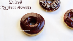 baked eggless donuts