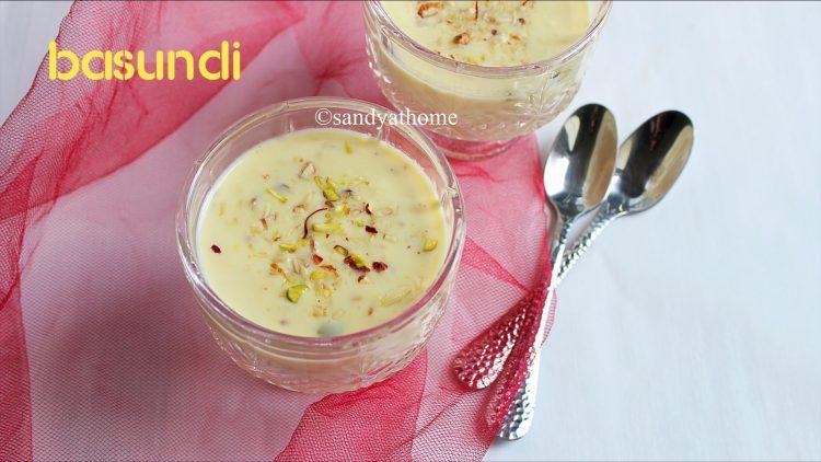 diwali sweet basundi