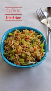 vegetable quinoa fried rice recipe